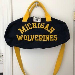 Michigan PINK Duffle Bag
